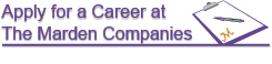 apply here for a career at Marden Companies